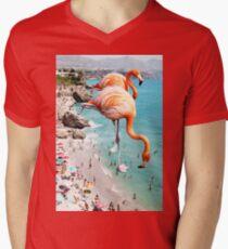 Flamingos on the Beach #redbubble #decor T-Shirt