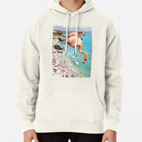 Flamingos on the Beach #redbubble #decor Pullover Hoodie
