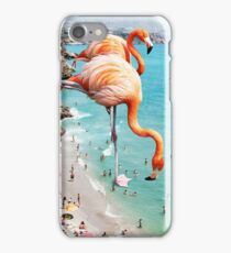 Flamingos on the Beach #redbubble #decor iPhone Case/Skin