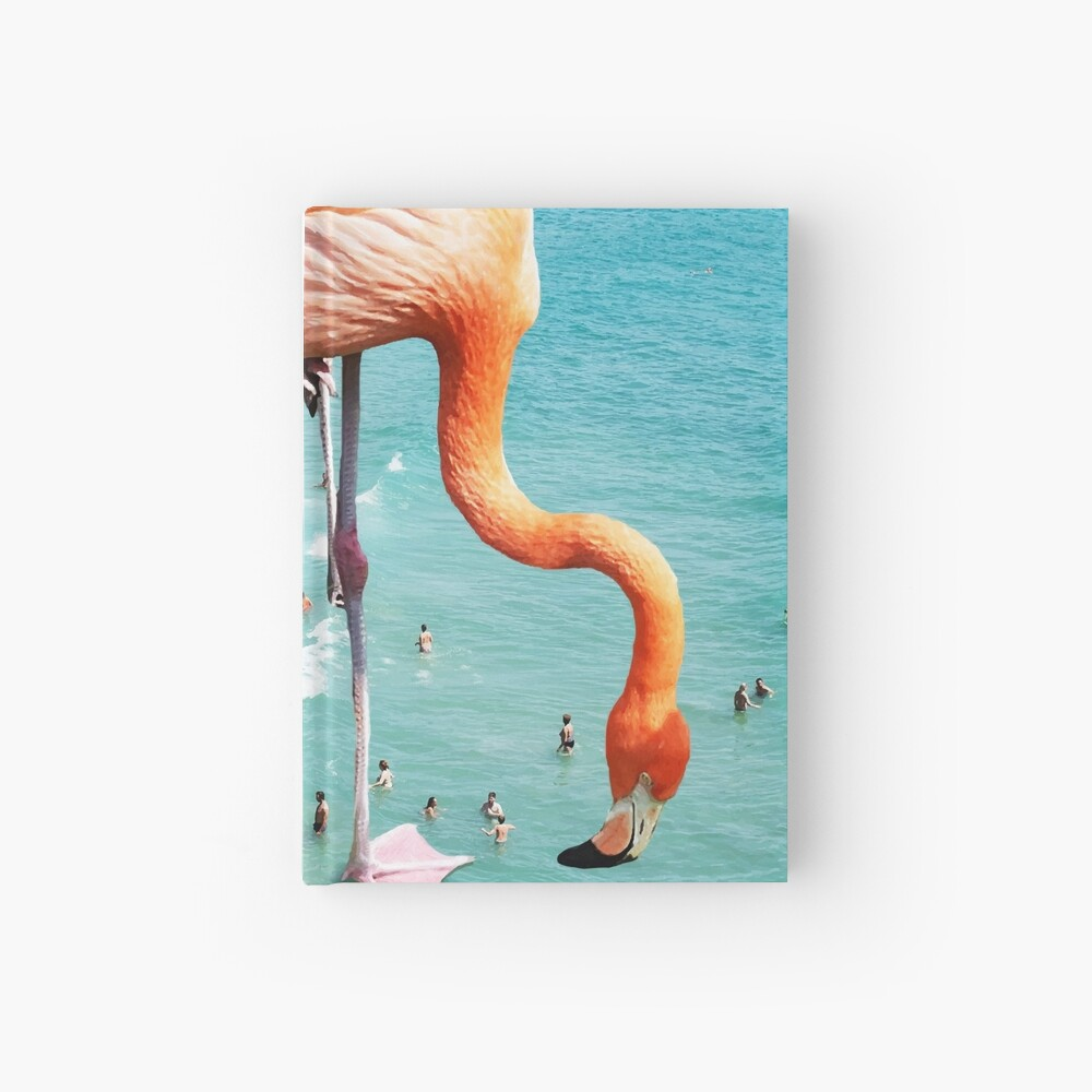 Flamingos am Strand #redbubble #decor Notizbuch