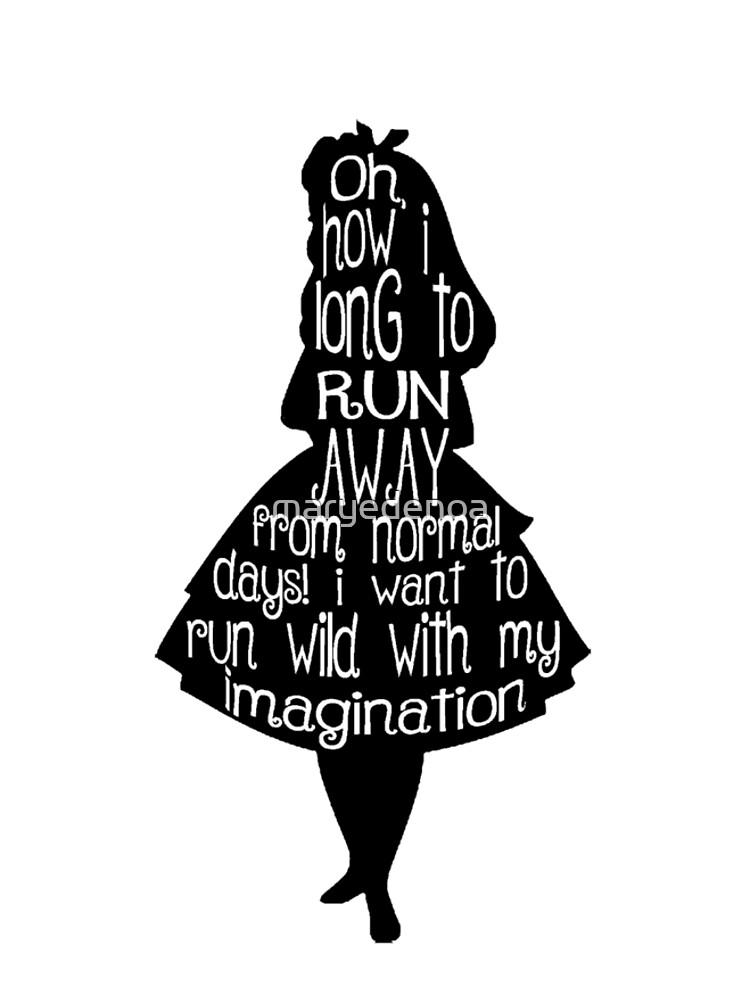 Alice im Wunderland-Zitat von maryedenoa