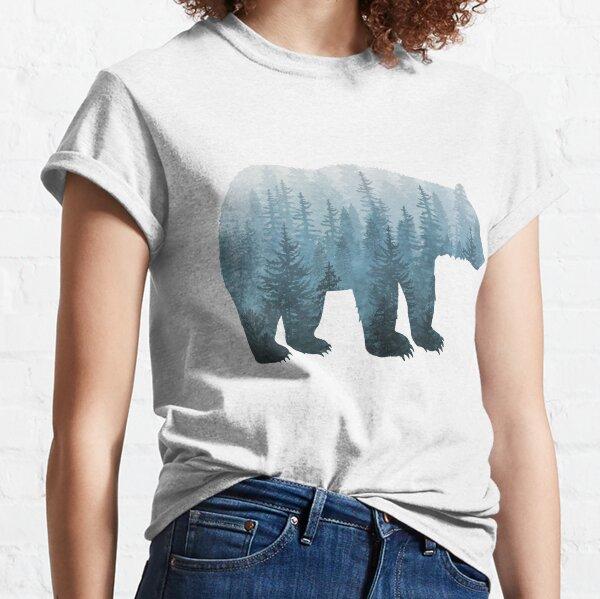 Nebeliger Waldbär - Türkis Classic T-Shirt