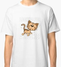 Funny cartoon cat looks for a mischief, for children and adults than like to play and prank Classic T-Shirt
