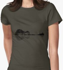 Nature Guitar Womens Fitted T-Shirt