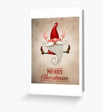 Happy Christmas elf Greeting card Greeting Card