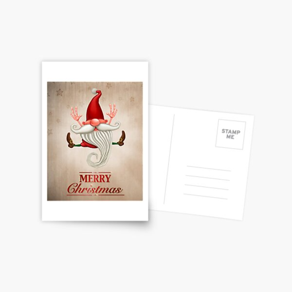 Happy Christmas elf Greeting card Postcard