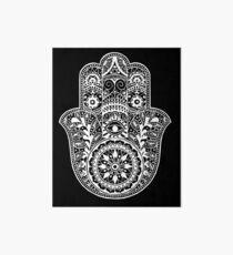 White Hamsa Hand Art Board