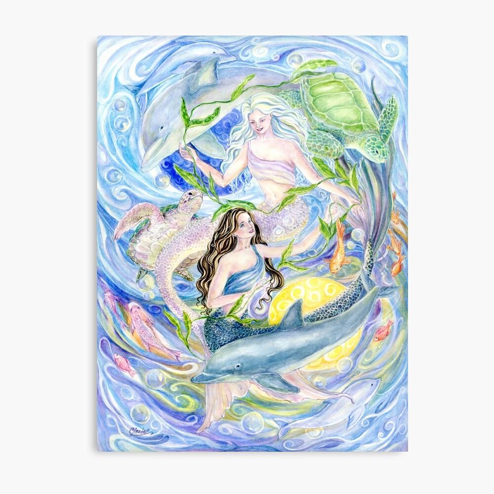 Yin Yang Meerjungfrauen Metallbild