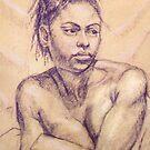 Woman with dreadlocks by Fiona O'Beirne