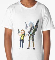 Rick and Morty with guns Long T-Shirt