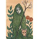 Mother of the Mountain (Print with White border) by NadiaTurner