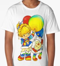 """Vintage """"Up, Up & Away"""" Rainbow Brite, Sprite, Twink, White, Colorful, Bright, Retro, Yellow, Gold, Mustard, 80's, Cartoon, Babies, Throwback, Pop Culture, My Childhood   Long T-Shirt"""