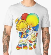 "Vintage ""Up, Up & Away"" Rainbow Brite, Sprite, Twink, White, Colorful, Bright, Retro, Yellow, Gold, Mustard, 80's, Cartoon, Babies, Throwback, Pop Culture, My Childhood   Men's Premium T-Shirt"