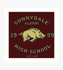 Sunnydale High School Alumni Art Print