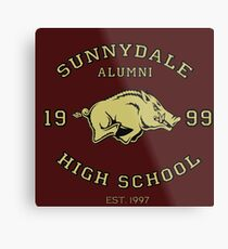 Sunnydale High School Alumni Metal Print