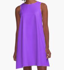 Bright Fluorescent Day Glo Purple Neon A-Line Dress