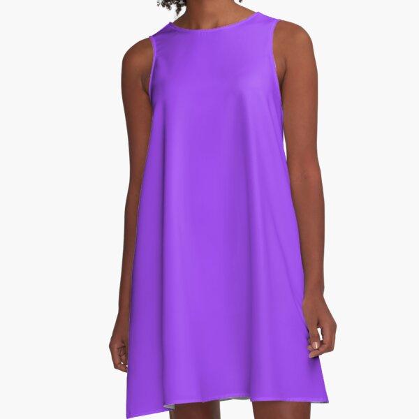 Helles Leuchtstoff-Tagesglo-Purpur-Neon A-Linien Kleid
