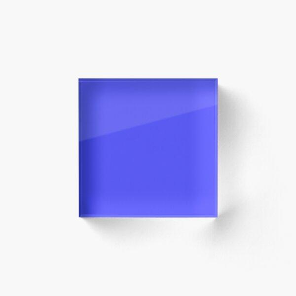 Bright Electric Fluorescent Blue Neon Acrylic Block