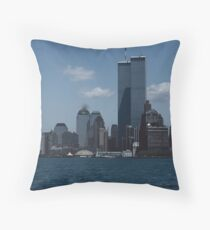The World Trade Center, Twin Towers,New York Throw Pillow