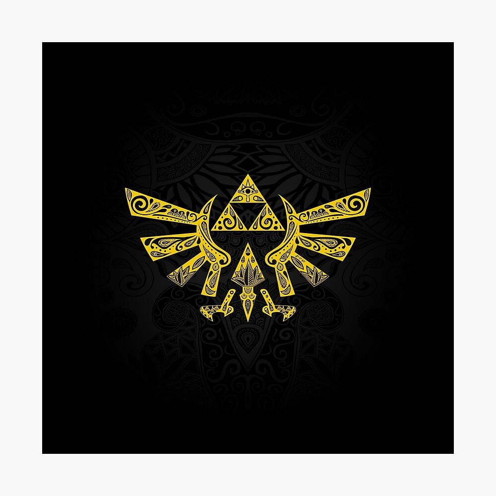 Emblema Hyrule Amarillo Lámina fotográfica