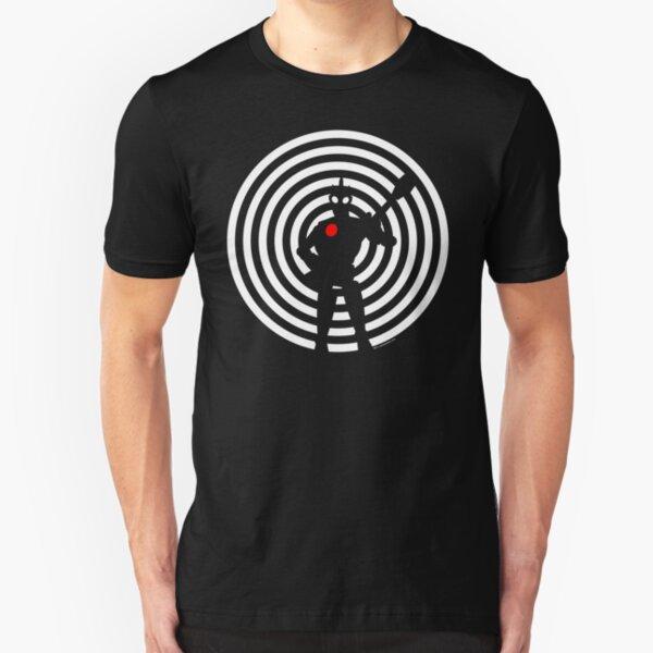 rock-it-boy! : negative space remix Slim Fit T-Shirt