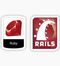 Ruby and Rails Logo Stickers 2 in 1 Sticker