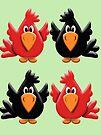 Four Little Birdies  by LoneAngel