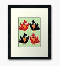 Four Little Birdies  Framed Print