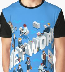 Isometric People Network Icon 3D Set Vector Illustration   Graphic T-Shirt