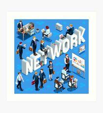 Isometric People Network Icon 3D Set Vector Illustration   Art Print