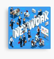 Isometric People Network Icon 3D Set Vector Illustration   Canvas Print