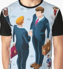 Isometric Business People Icon Isolated Set Vector Illustration Graphic T-Shirt