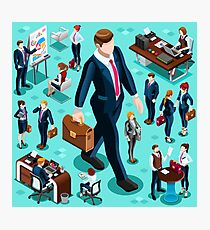 Isometric Isolated Business People Icon Set Vector Illustration   Photographic Print