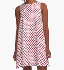 Barberry Polka Dots A-Line Dress