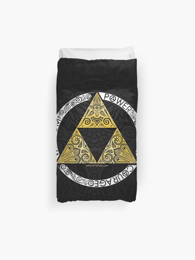 Zelda Triforce Circle Housse De Couette
