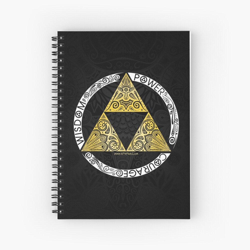 Zelda - Triforce circle Spiral Notebook