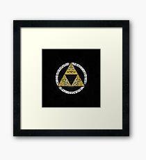 Zelda - Triforce circle Framed Print