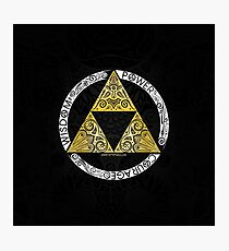Zelda - Triforce circle Photographic Print
