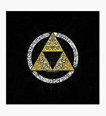 Lámina fotográfica Zelda - Círculo de la Trifuerza