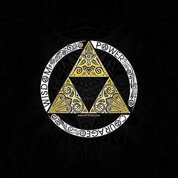 Zelda - Círculo de la Trifuerza de artetbe