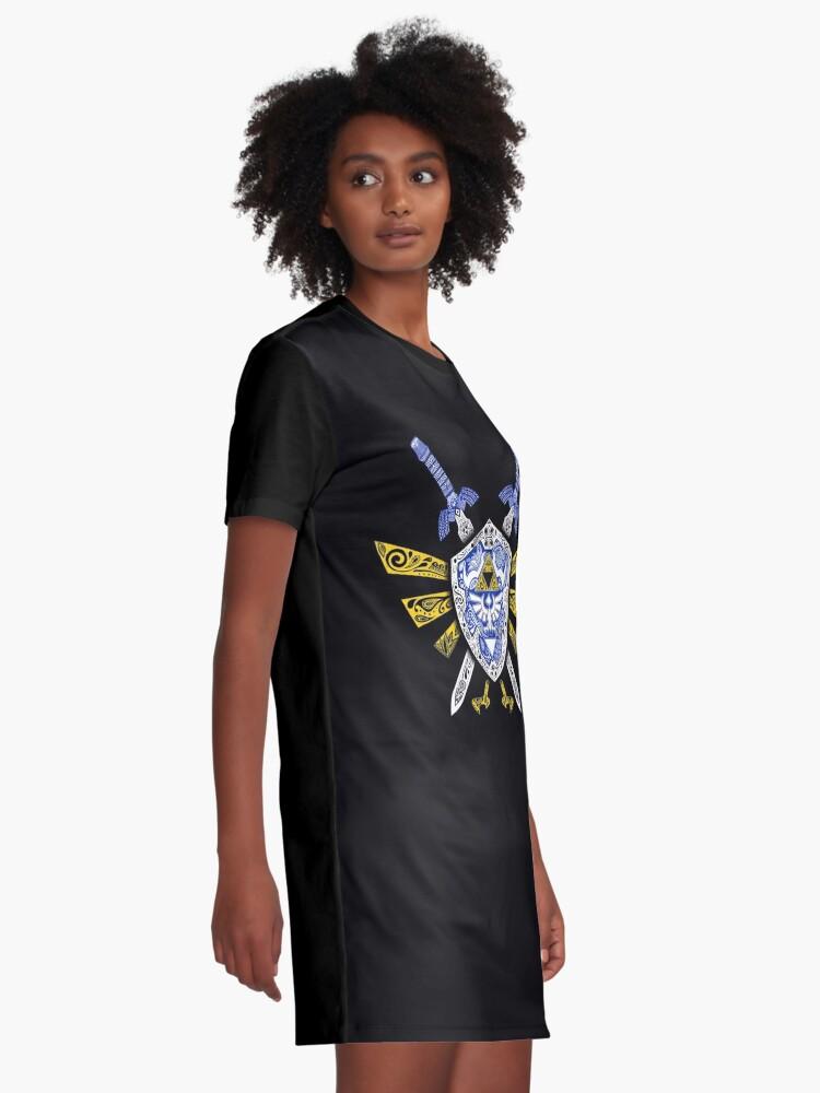 Vista alternativa de Vestido camiseta Leyenda de los héroes - Zelda
