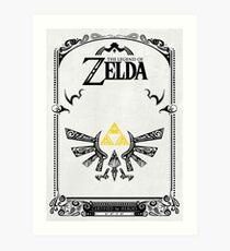 Lámina artística Zelda leyenda Hyrule