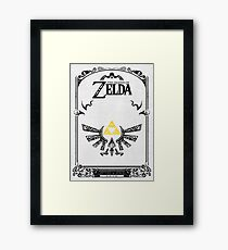 Lámina enmarcada Zelda leyenda Hyrule