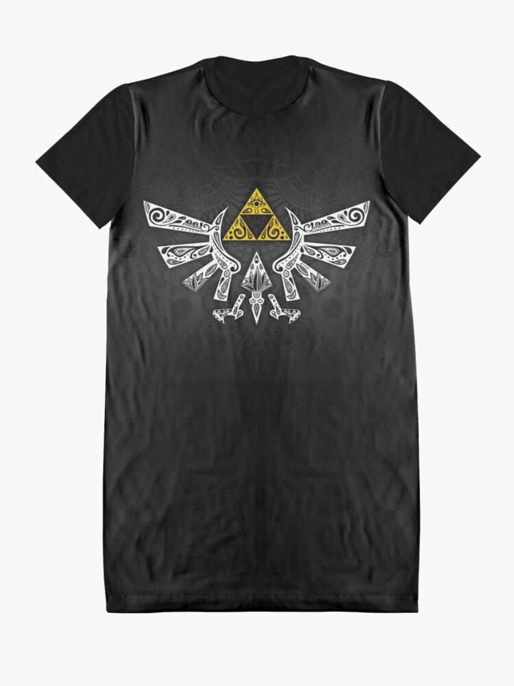 Vista alternativa de Vestido camiseta Zelda - Doodle Hyrule