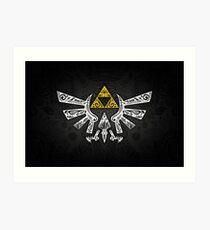 Lámina artística Zelda - Doodle Hyrule