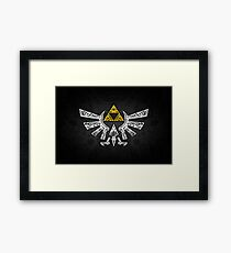 Zelda - Hyrule doodle Framed Print