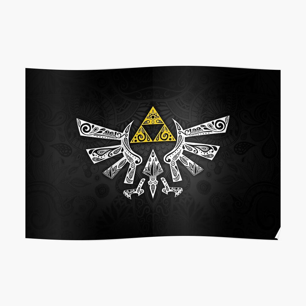 Zelda - Doodle Hyrule Póster