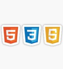 HTML5, CSS3, JS Logos Sticker