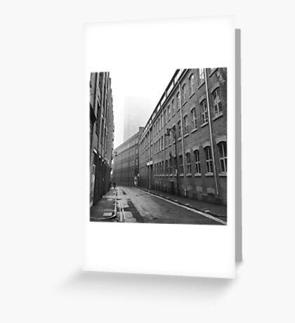 Foggy Leicester Street Greeting Card