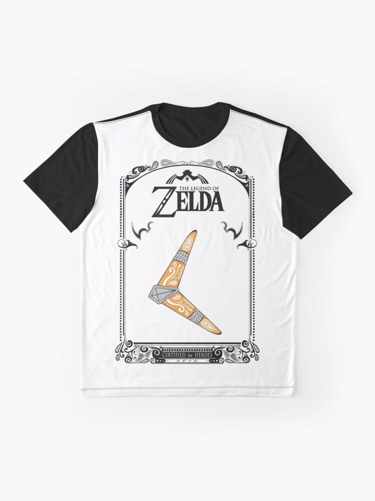 Vista alternativa de Camiseta gráfica Zelda legend - Boomerang doodle